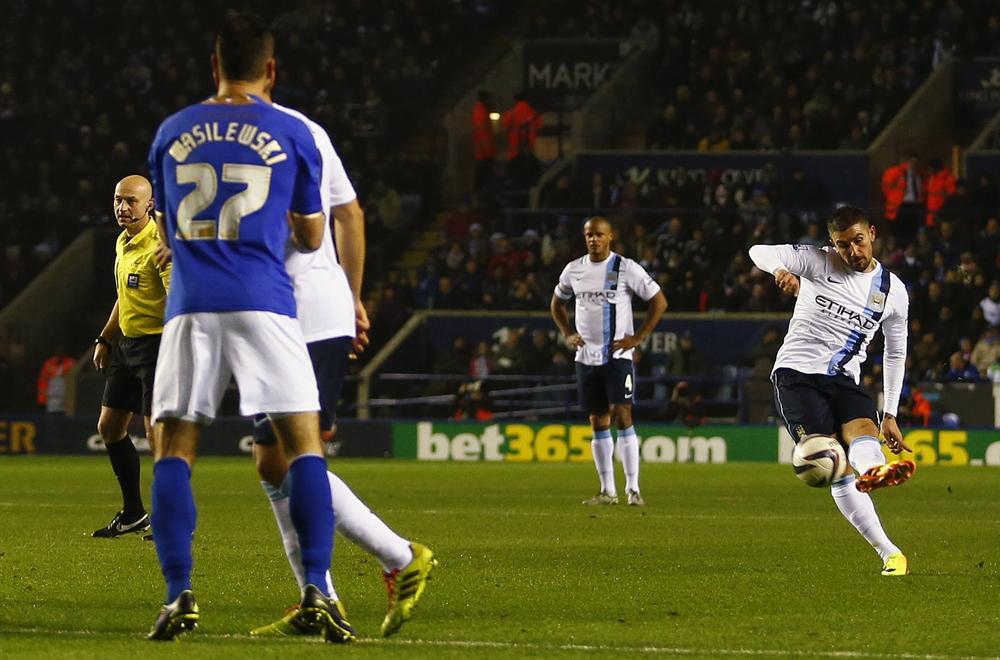 Aleksandar Kolarov kicks off Manchester City win over Leicester with spectacular 30-yard free-kick