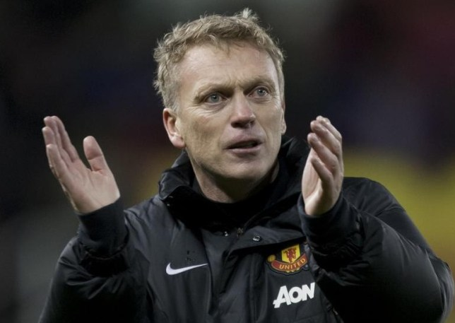 David Moyes applauds United fans at Stoke (Picture: AP)