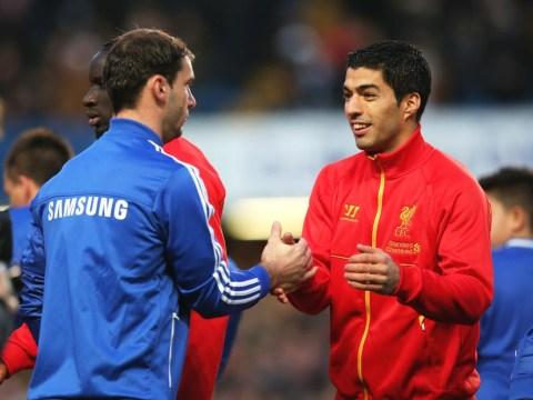 Best of friends! Luis Suarez and Branislav Ivanovic make up after sharing a handshake