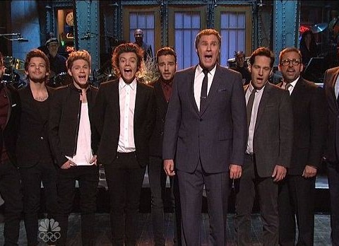 Anchorman 2's 'man band' take on One Direction in Saturday Night Live duet