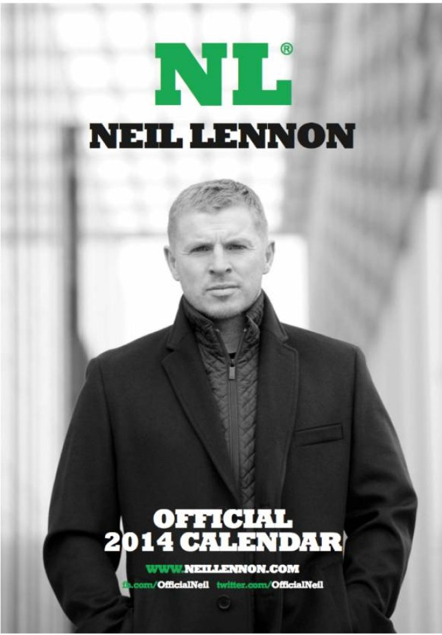 Neil Lennon Calendar   credit Neil Lennon and link back to  http://neillennon.com/product/the-official-neil-lennon-calendar/