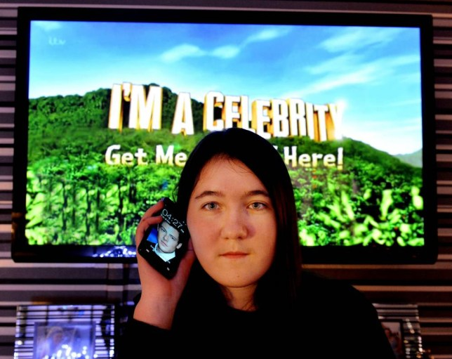 Nicole Hassell (18) from Abbey Hulton, Staffordshire who has run up a bill of over £1100 using her mobile phone to call and vote in 'I'm A Celebrity'.  See NTI story NTICELEB.  A mum was horrified when she was slapped with a £1,158 bill from Orange after her teenage daughter voted for 'I'm a Celebrity' star Lucy Pargeter ñ a whopping 2,000 TIMES.  Superfan Nicole Hassall, 18, racked up the huge bill in just six hours as she bid to keep her idol in the jungle.  The teenager made a staggering 2,316 calls to the ITV show's 50p premium rate number in support of the Emmerdale star - unaware her phone bill would sky-rocket as a result.  Now devastated mum Eileen, 62, has been forced to use £250 earmarked for Nicole's Christmas presents to pay off the steep charges.  Yesterday (Mon) she warned parents to be vigilant if their kids become hooked on primetime TV shows which encourage viewers to vote.