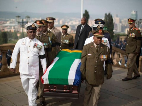 Nelson Mandela's body to lie in state after crowds line streets for procession