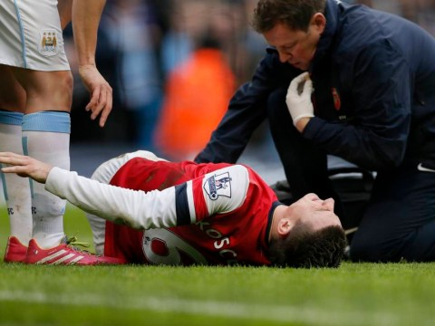 Arsenal defender Laurent Koscielny posts gory picture of knee injury