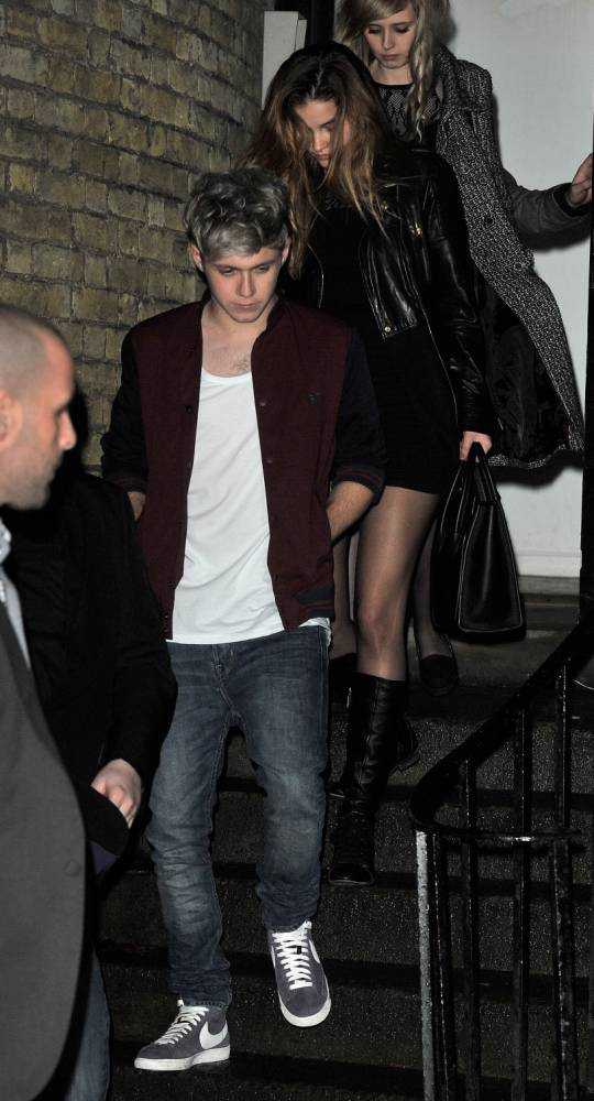 15th December 2013, Niall Horan and girlfriend Barbara Palvin seen leaving the X Factor wrap party at One Marylebone. Niall and Barabara were seen leaving via the back exit. London, UK. Credit: Ben Eade/GoffPhotos.com Ref: KGC-102 *UK and France Sales Only**