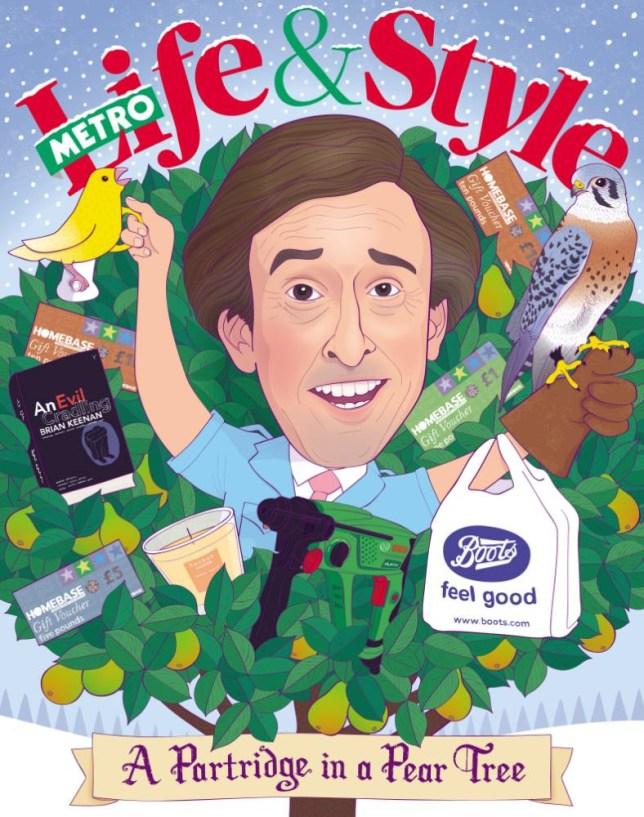 Alan Partridge reckons Homebase vouchers are the way to go at Christmas (Illustration: The Boy Fitz Hammond/NB Illustration)