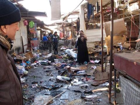 Twin Baghdad bomb blast kills dozens at church and outdoor market