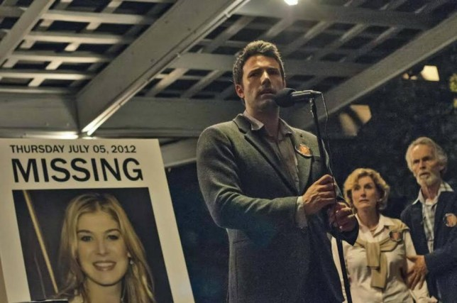 Ben Affleck and Rosamund Pike appear in the first official still from Gone Girl (Picture: Twentieth Century Fox)