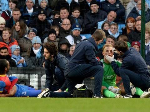 Joe Hart's head causes injury to Cameron Jerome's knee