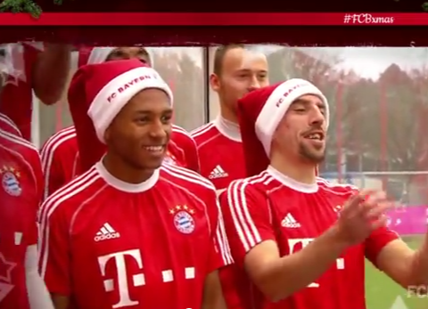Bayern Munich sing Jingle Bells to get in the Christmas spirit – Video