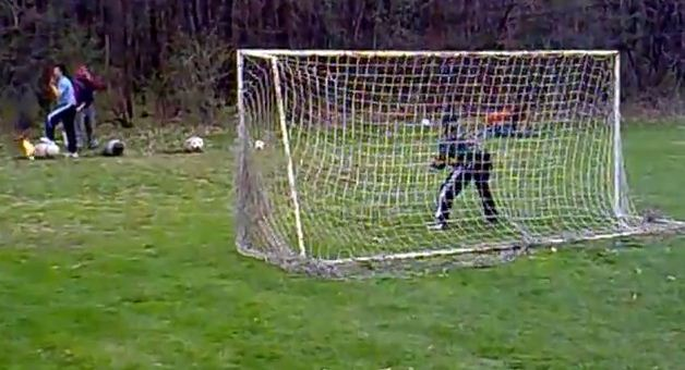 The answer to Joe Hart's problems between the sticks? Goalkeeping practice with cannons – video