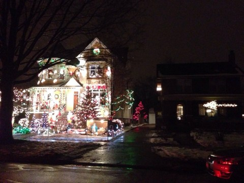 Homeowner admits defeat to neighbour in the battle for Christmas lights supremacy