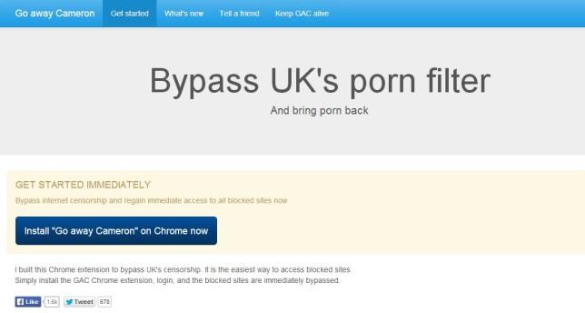 Chrome porn filter blocker extension: Go Away Cameron