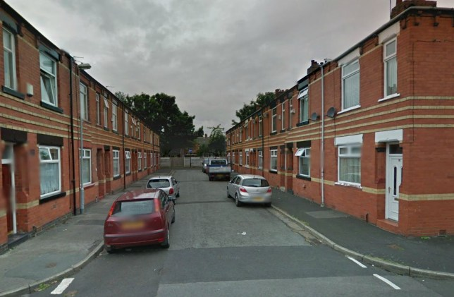 A man had his ear bitten off in a property in Piercy Street, Failsworth  (Picture: Google Maps)