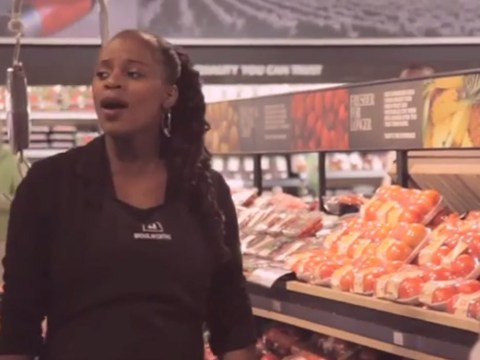 Supermarket 'workers' pay tribute to Nelson Mandela with touching flash mob performance