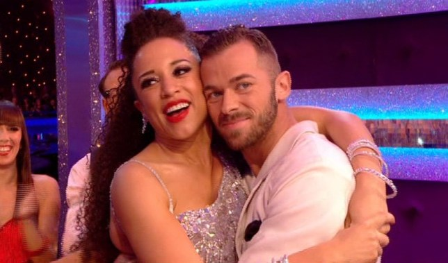 Strictly Come Dancing 2013: Natalie and Artem celebrate their first 40 (Picture: BBC)