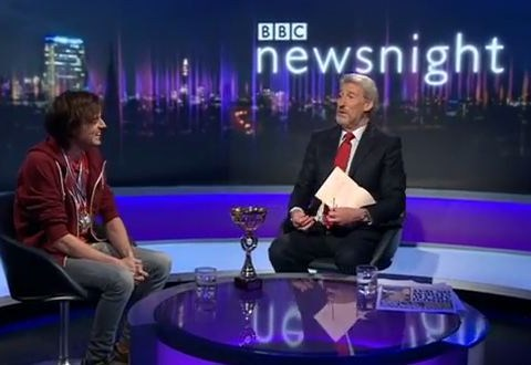 World memory champion attempts to recite Newsnight credits – but falters over Jeremy Paxman's name