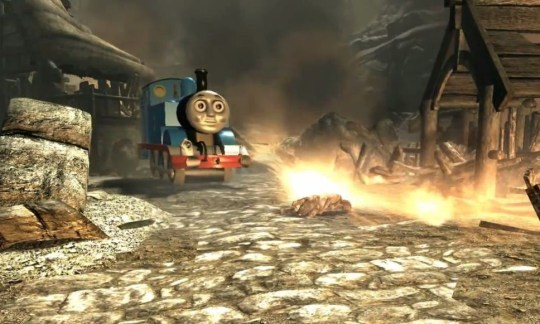 I used to be a steam engine like you, then I took an arrow to the axel (Picture: YouTube)