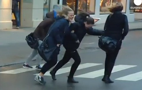 You think Christmas shopping on your high street is bad? Check out this video from Norway…