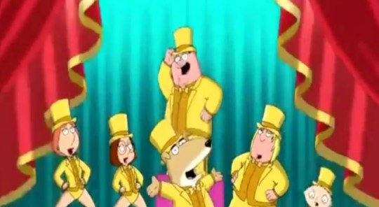 Family Guy: Vinny, voiced by Sopranos star Tony Sirico, has joined the cast (Picture: Fox/YouTube)