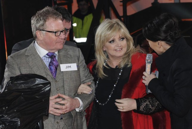 Jim Davidson and Linda Nolan were shackled together prior to entering the Celebrity Big Brother 2014 house (Picture: Getty Images)