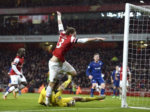 Nicklas Bendtner goal leaves Arsenal fan with jam on his face