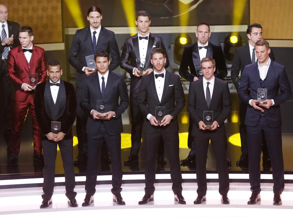Did Messi and Ronaldo take inspiration from the Golden Globes for their Ballon d'Or 2014 suits?