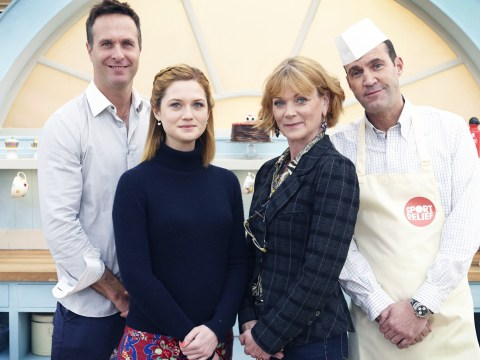 Sport Relief Bake Off 2014, episode one: Harry Potter star Bonnie Wright casts a spell over Paul Hollywood and Mary Berry