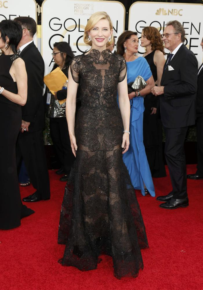 Cate Blanchett was our best dressed in lace Armani Prive (Picture: Moloshok/Reuters)