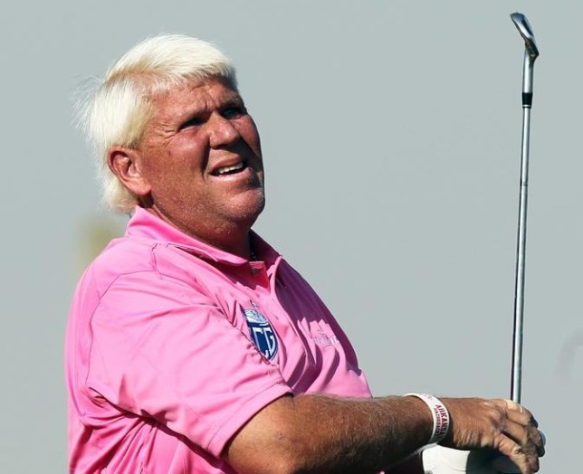 John Daly of the USA during the second round of the Commercial Bank Qatar Masters at the Doha Golf Club in Doha, Qatar, Thursday, Jan. 23, 2014. (AP Photo/Osama Faisal) AP Photo/Osama Faisal