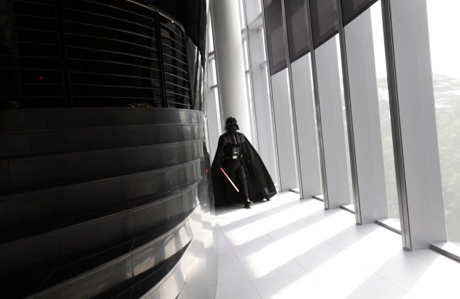 Darth Vader is let loose at the Sandcrawler centre (Picture: Reuters)