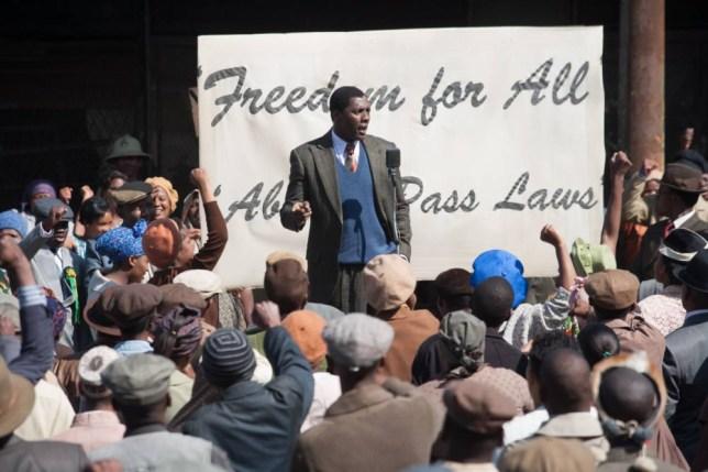 Idris Elba as Nelson Mandela in new film Mandela: Long Walk To Freedom (Picture: Keith Bernstein)