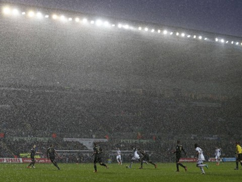 Gallery: Barclays Premier League match between Swansea City and Manchester City 01/01/2014