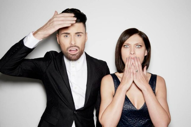 Emma Willis and Rylan Clark - she's hosting Celebrity Big Brother and he's joining her for the Bit On The Side (Picture: supplied)
