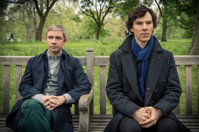 There was a stony silence after Sherlock refused to lend John his scarf (Picture: BBC)