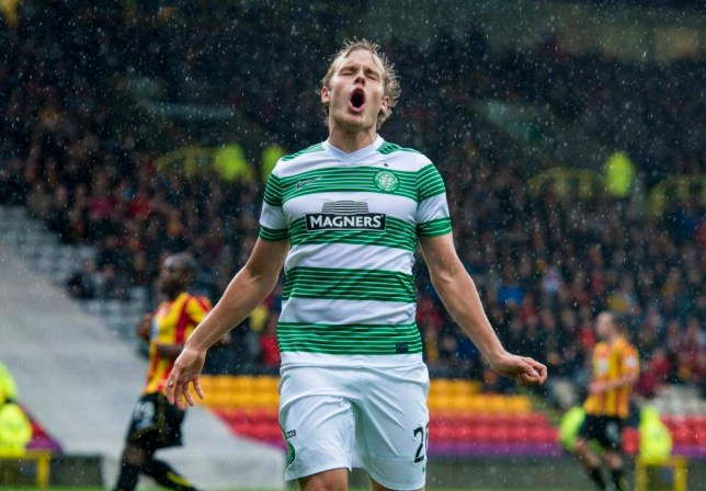 27/10/13 SCOTTISH PREMIERSHIPnPARTICK THISTLE v CELTIC (1-2)nFIRHILL - GLASGOWnCeltic's Teemu Pukki is frustrated after missing a chance