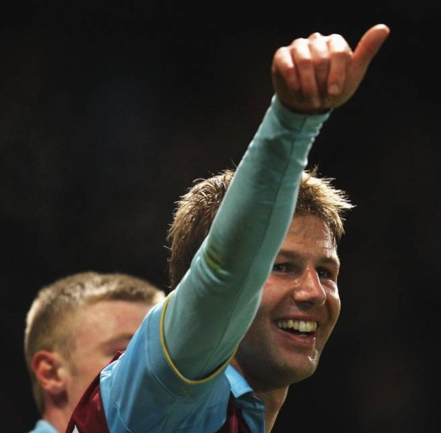 (FILE PHOTO) Retired German footballer Thomas Hitzlsperger has told German news outlet Zeit Online he is gay.  LONDON, ENGLAND - FEBRUARY 21:  Thomas Hitzlsperger of West Ham United celebrates the opening goal during the FA Cup sponsored by E.ON 5th Round match between West Ham United and Burnley at the Boleyn Ground on February 21, 2011 in London, England.  (Photo by Paul Gilham/Getty Images)