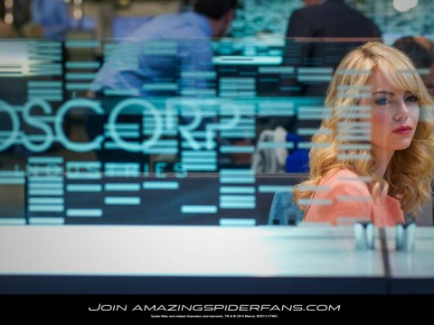 Emma Stone pouts as Gwen Stacy in new The Amazing Spider-Man 2 photo