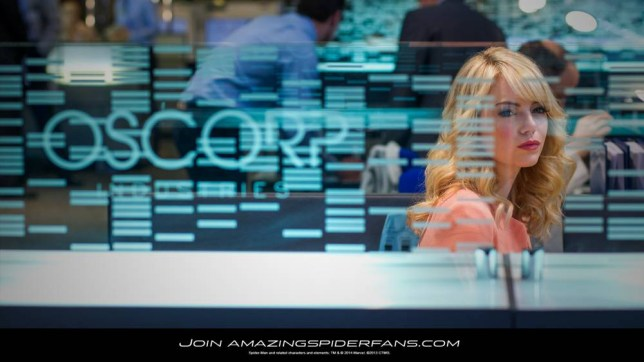 Emma Stone looks pensive as Gwen Stacy (Picture: Sony Pictures)