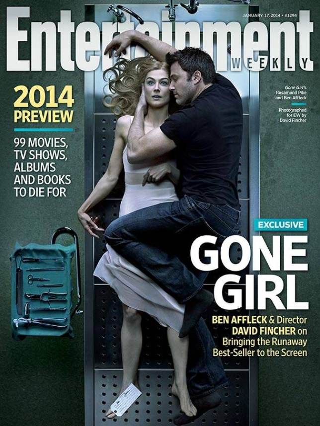 Credit DAVID FINCHER for EW  and link back to   http://popwatch.ew.com/2014/01/08/cover-david-fincher-gone-girl/