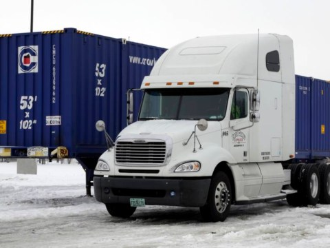 Lucky escape: Truck driver stuck in sub-zero temperatures for eight hours
