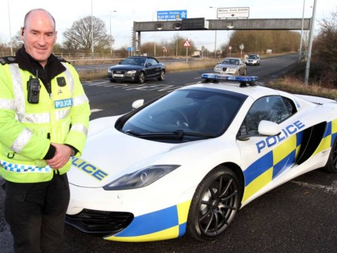 Nowhere to run: Police unveil new plan to stop crime… a £240k supercar that can do 0-60mph in three seconds