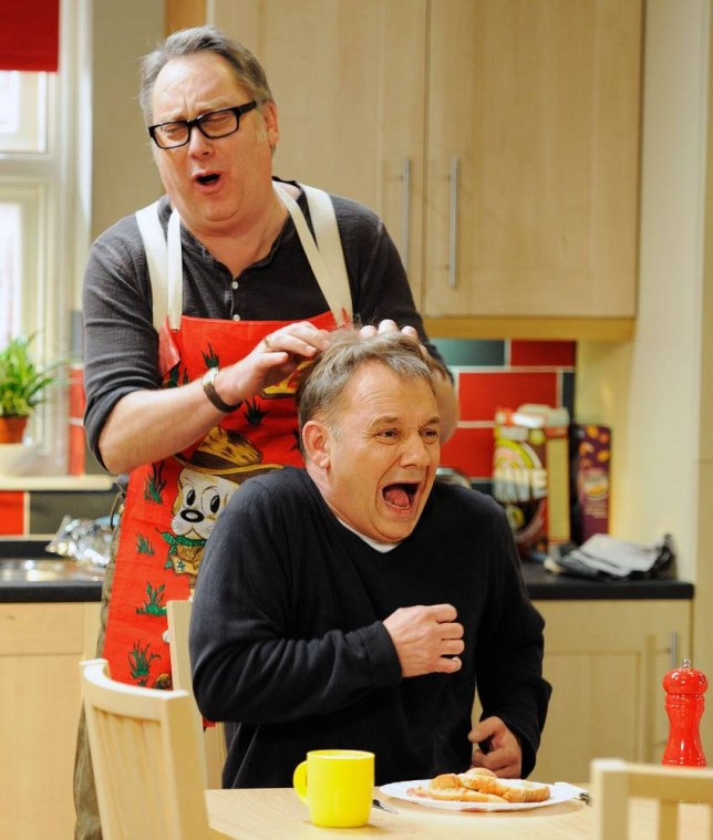 Vic Reeves and Bob Mortimer horse around in House Of Fools (Picture: Christopher Baines)