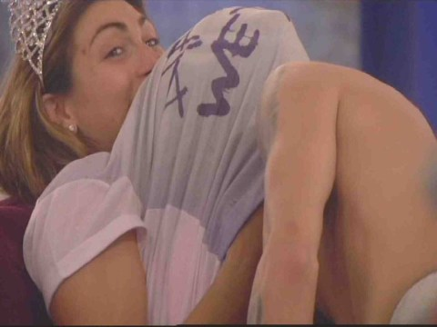 Luisa Zissman and Dappy take the reins from Jasmine Waltz and Lee Ryan and get frisky in the Celebrity Big Brother house