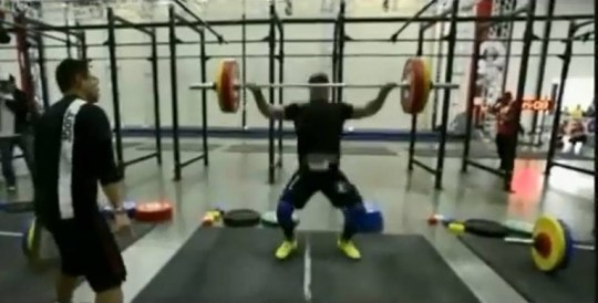 A Colorado CrossFit athlete was performing a routine powerlift during a competition in Southern California over the weekend when he suffered a critical injury to his spine, leaving him paralyzed from the waist down.   Tragedy struck Sunday while Kevin Ogar, a coach at a CrossFit gym in Denver, was performing a 'snatch' - a staple move in the sport that combines weightlifting, gymnastics and sprinting.  According to published reports, the 6 foot 1, 201-pound Ogar lifted a heavy dumbbell to his waist  and then over his head, but couldn't hold it, letting the heavy bar plummet to the floor behind him.