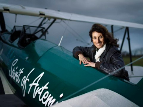 Weeks in an open cockpit: Pilot recreates historic solo flight across Africa in her 1940s biplane