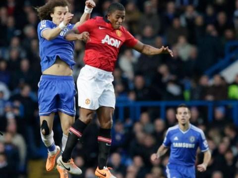 David Luiz dodges red card after elbow on Antonio Valencia
