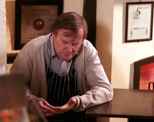 Coronation Street on TV3.....STRICT EMBARGO -TV Listings Magazines Tuesday 21 January 2014, Newspapers and other media including ANY websites Saturday 25 January 2014....Coronation Street - Ep 8311....Wednesday 29 January 2014....Roy Cropper [DAVID NEILSON] struggles to keep it all together feeling completely at sea, can he bring himself to attend hayleys funeral?....Picture contact: david.crook@itv.com on 0161 952 6214....Photographer - Joseph Scanlon....This photograph is (C) ITV Plc and can only be reproduced for editorial purposes directly in connection with the programme or event mentioned above, or ITV plc. Once made available by ITV plc Picture Desk, this photograph can be reproduced once only up until the transmission [TX] date and no reproduction fee will be charged. Any subsequent usage may incur a fee. This photograph must not be manipulated [excluding basic cropping] in a manner which alters the visual appearance of the person photographed deemed detrimental or inappropriate by ITV plc Picture Desk. This photograph must not be syndicated to any other company, publication or website, or permanently archived, without the express written permission of ITV Plc Picture Desk. Full Terms and conditions are available on the website www.itvpictures.com..