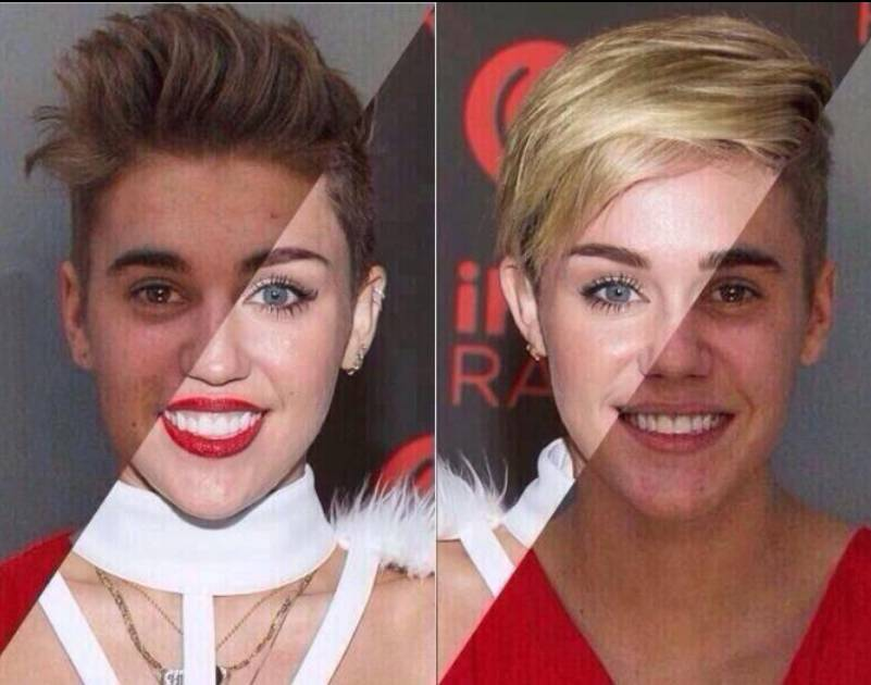 Are Justin Bieber and Miley Cyrus the same person?