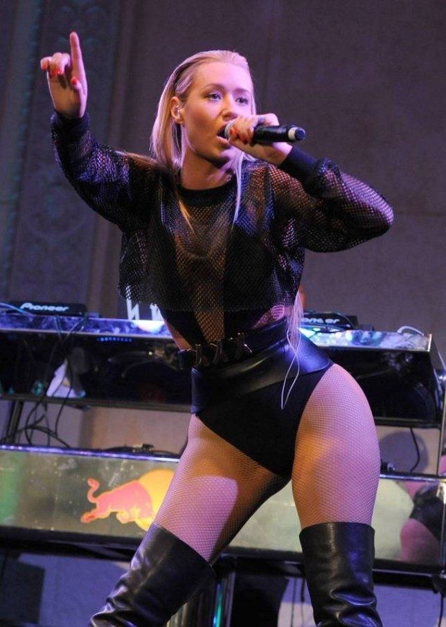 LOS ANGELES, CA - JANUARY 24:  Recording artist Iggy Azalea performs at the Friends 'N' Family 17th Annual Pre-GRAMMY Party at Park Plaza Hotel on January 24, 2014 in Los Angeles, California.  (Photo by Angela Weiss/Getty Images for FRIENDS 'N' FAMILY)